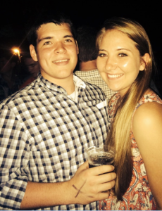 At Josh Abbott's concert in the summer of 2014.