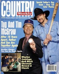 "Tim McGraw with biological father ""Tug"" McGraw"