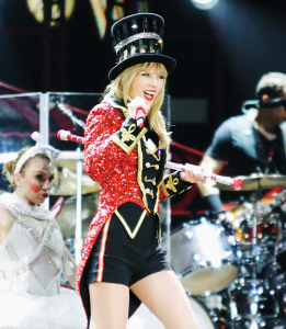 """Swift performs """"WANEGBT"""" at her sold-out RED Tour in 2013."""