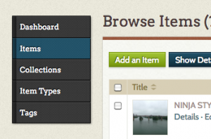 navigate to add item